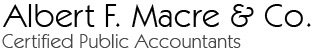 Albert F. Macre & Co. Certified Public Accountants